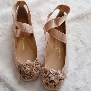 JESSICA SIMPSON Ballet Criscross Flat